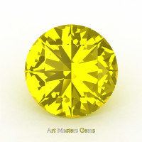 Art Masters Gems Calibrated 5.0 Ct Round Yellow Sapphire Created Gemstone RCG0500-YS