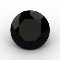 Art Masters Gems Calibrated 1.25 Ct Round Black Sapphire Created Gemstone RCG0125-BLS