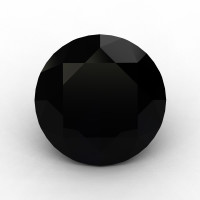 Art Masters Gems Calibrated 1.5 Ct Round Black Sapphire Created Gemstone RCG0150-BLS