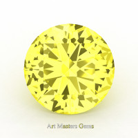 Art Masters Gems Calibrated 2.0 Ct Round Canary Yellow Sapphire Created Gemstone RCG0200-CYS