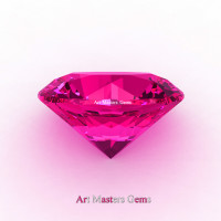 Art Masters Gems Calibrated 0.5 Ct Round Hot Pink Sapphire Created Gemstone RCG0050-HPS