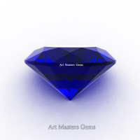 Art Masters Gems Calibrated 1.25 Ct Round Royal Blue Sapphire Created Gemstone RCG0125-RBS