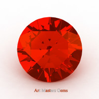 Art Masters Gems Calibrated 1.25 Ct Round Padparadscha Sapphire Created Gemstone RCG0125-POS