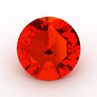 Art Masters Gems Calibrated 1.5 Ct Round Padparadscha Sapphire Created Gemstone RCG0150-POS
