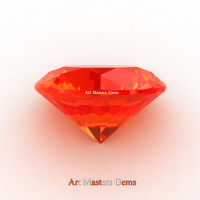 Art Masters Gems Calibrated 3.0 Ct Round Padparadscha Sapphire Created Gemstone RCG0300-POS