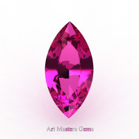 Art Masters Gems Calibrated 0.5 Ct Marquise Pink Sapphire Created Gemstone MCG0050-PS