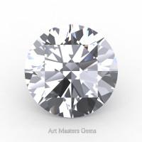 Art Masters Gems Standard 0.5 Ct Round White Sapphire Created Gemstone RCG0050-WS