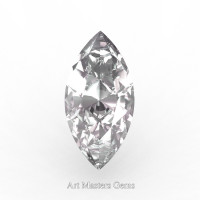 Art Masters Gems Standard 0.75 Ct Marquise White Sapphire Created Gemstone MCG0075-WS