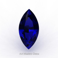 Art Masters Gems Standard 1.0 Ct Marquise Blue Sapphire Created Gemstone MCG0100-BS