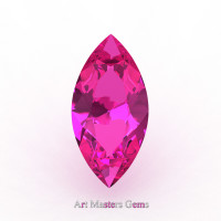 Art Masters Gems Calibrated 1.0 Ct Marquise Pink Sapphire Created Gemstone MCG0100-PS