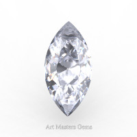 Art Masters Gems Standard 1.0 Ct Marquise White Sapphire Created Gemstone MCG0100-WS