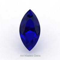 Art Masters Gems Standard 1.25 Ct Marquise Blue Sapphire Created Gemstone MCG0125-BS