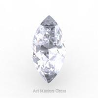 Art Masters Gems Standard 1.25 Ct Marquise White Sapphire Created Gemstone MCG0125-WS