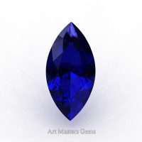 Art Masters Gems Standard 1.5 Ct Marquise Blue Sapphire Created Gemstone MCG0150-BS