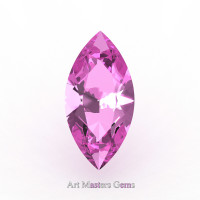 Art Masters Gems Calibrated 1.5 Ct Marquise Light Pink Sapphire Created Gemstone MCG0150-LPS