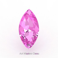 Art Masters Gems Calibrated 2.0 Ct Marquise Light Pink Sapphire Created Gemstone MCG0200-LPS