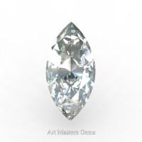 Art Masters Gems Standard 2.5 Ct Marquise White Sapphire Created Gemstone MCG0250-WS