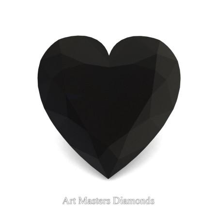 Art-Masters-Gems-Standard-0-5-0-Carat-Heart-Cut-Black-Diamond-Created-Gemstone-HCG050-BD-T