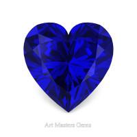 Art Masters Gems Standard 0.5 Ct Heart Blue Sapphire Created Gemstone HCG050-BS