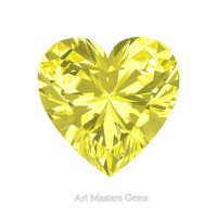 Art Masters Gems Standard 0.5 Ct Heart Canary Yellow Sapphire Created Gemstone HCG050-CYS