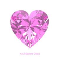 Art Masters Gems Standard 0.5 Ct Heart Light Pink Sapphire Created Gemstone HCG050-LPS