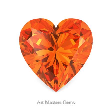 Art-Masters-Gems-Standard-0-5-0-Carat-Heart-Cut-Orange-Sapphire-Created-Gemstone-HCG050-OS-T