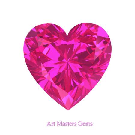 Art-Masters-Gems-Standard-0-5-0-Carat-Heart-Cut-Pink-Sapphire-Created-Gemstone-HCG050-PS-T