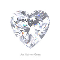 Art Masters Gems Standard 0.5 Ct Heart White Sapphire Created Gemstone HCG050-WS