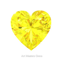 Art Masters Gems Standard 0.5 Ct Heart Yellow Sapphire Created Gemstone HCG050-YS