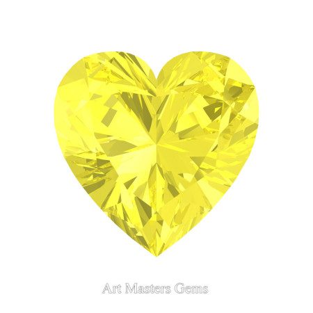 Art-Masters-Gems-Standard-0-7-5-Carat-Heart-Cut-Canary-Yellow-Sapphire-Created-Gemstone-HCG075-CYS-T