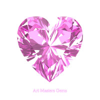 Art Masters Gems Standard 0.75 Ct Heart Light Pink Sapphire Created Gemstone HCG075-LPS