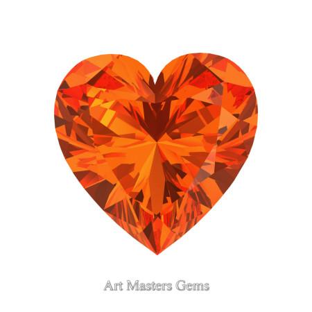Art-Masters-Gems-Standard-0-7-5-Carat-Heart-Cut-Orange-Sapphire-Created-Gemstone-HCG075-OS-T