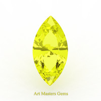 Art Masters Gems Standard 0.75 Ct Marquise Yellow Sapphire Created Gemstone MCG075-YS