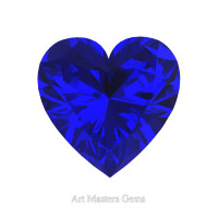 Art Masters Gems Standard 1.0 Ct Heart Blue Sapphire Created Gemstone HCG100-BS