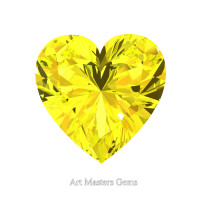 Art Masters Gems Standard 1.0 Ct Heart Yellow Sapphire Created Gemstone HCG100-YS