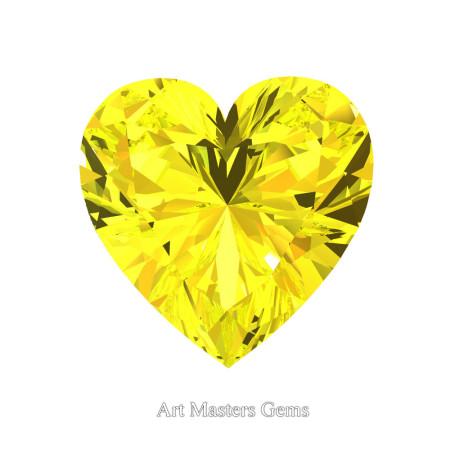 Art-Masters-Gems-Standard-1-0-0-Carat-Heart-Cut-Yellow-Sapphire-Created-Gemstone-HCG100-YS-T
