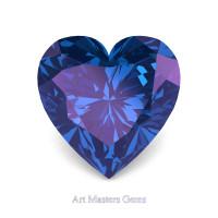 Art Masters Gems Standard 1.25 Ct Heart Alexandrite Created Gemstone HCG125-AL