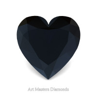 Art Masters Gems Standard 1.5 Ct Heart Black Diamond Created Gemstone HCG150-BD