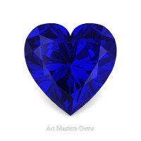 Art Masters Gems Standard 1.5 Ct Heart Blue Sapphire Created Gemstone HCG150-BS