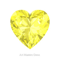 Art Masters Gems Standard 1.5 Ct Heart Canary Yellow Sapphire Created Gemstone HCG150-CYS