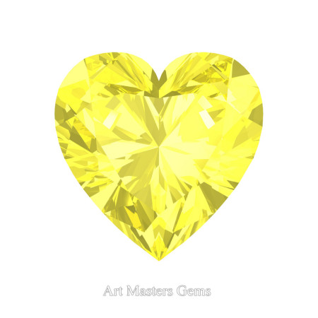 Art-Masters-Gems-Standard-1-5-0-Carat-Heart-Cut-Canary-Yellow-Sapphire-Created-Gemstone-HCG150-CYS-T