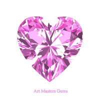 Art Masters Gems Standard 1.5 Ct Heart Light Pink Sapphire Created Gemstone HCG150-LPS