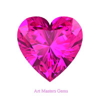 Art Masters Gems Standard 1.5 Ct Heart Pink Sapphire Created Gemstone HCG150-PS