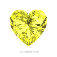 Art Masters Gems Standard 2.0 Ct Heart Canary Yellow Sapphire Created Gemstone HCG200-CYS