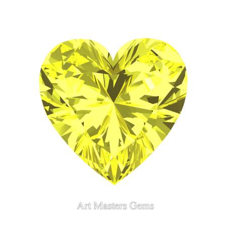 Art-Masters-Gems-Standard-2-0-0-Carat-Heart-Cut-Canary-Yellow-Sapphire-Created-Gemstone-HCG200-CYS-T