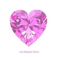 Art Masters Gems Standard 2.0 Ct Heart Light Pink Sapphire Created Gemstone HCG200-LPS