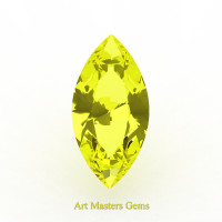 Art Masters Gems Standard 2.0 Ct Marquise Yellow Sapphire Created Gemstone MCG200-YS