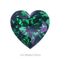 Art Masters Gems Standard 2.5 Ct Heart Russian Alexandrite Created Gemstone HCG250-RAL