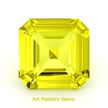 Art-Masters-Gems-Standard-3-0-0-Carat-Asscher-Cut-Yellow-Sapphire-Created-Gemstone-ACG300-YS-T2