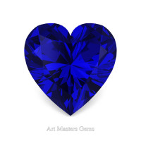 Art Masters Gems Standard 3.0 Ct Heart Blue Sapphire Created Gemstone HCG300-BS